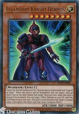 DLCS-EN003 Legendary Knight Hermos Ultra Rare 1st Edition Mint YuGiOh Card • 0.99£