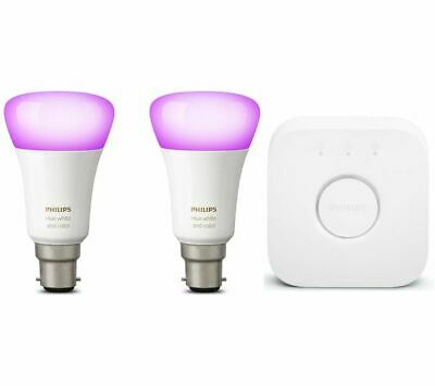 AU162.21 • Buy Philips Hue White And Colour Ambience Starter Kit B22