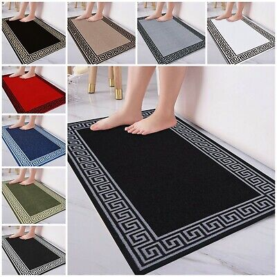 Non Slip Rubber Bath Mat Water Absorbent Pedestal Mats Washable Bathroom Rugs • 8.99£