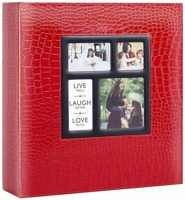 Ywlake Photo Album, 1000 Pockets 6x4 Photos, Extra Large Croc Red Leather • 35.79£