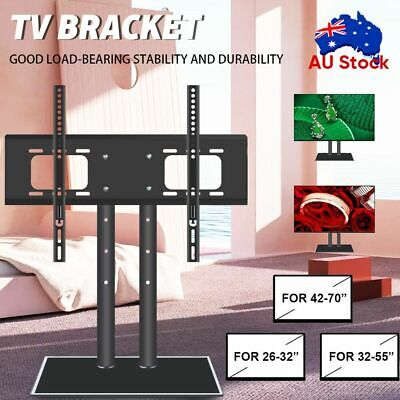 AU35.59 • Buy Table Desktop Top TV Stand Bracket VESA Mount LED LCD 32 42 50 55 65 70 Inch AU