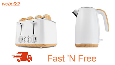 AU143.50 • Buy New White 4 Slice Toaster And 1.7L Kettle Combo Set Free Shipping