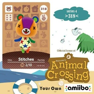 AU5.50 • Buy Animal Crossing Amiibo Card Villager Stitches Ntag215 NFC Card