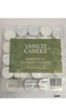 Yankee Candle Tea Lights Unscented 25 Pack • 4.49£