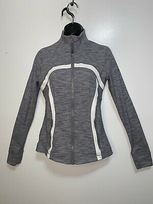 $ CDN60 • Buy Lululemon Define Jacket Gray Wee Stripe, Size 8