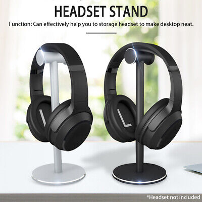 AU19.99 • Buy Aluminum Alloy Headset Stand Desktop Display Studio Portable Headphones Holder