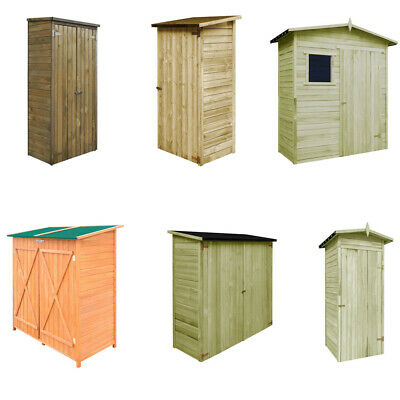 Wooden Garden Tool Storage Building With Door Shed Cupboard Lawn Mower Cabinet • 609.97£