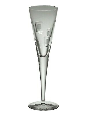 Royal DOULTON Crystal - METRO Cut - Champagne Flute Wine Glass / Glasses - 9  • 24.99£