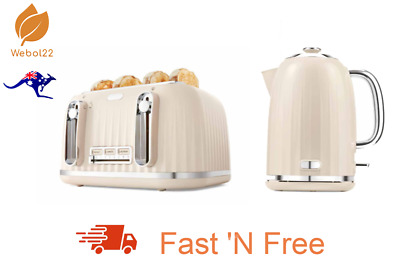 AU133.50 • Buy New Almond Euro Style 4 Slice Toaster And 1.7L Kettle Combo Set Free Shipping