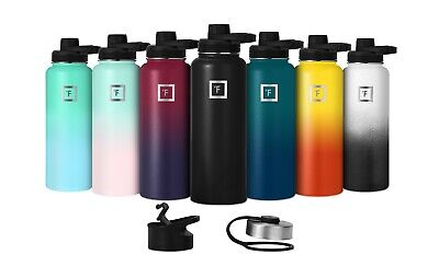 $26.95 • Buy Iron Flask Sport Water Bottle Hydro Vacuum Insulated Stainless Steel Spout Lid