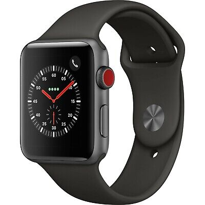 $ CDN259.99 • Buy Apple Watch Series 3 42mm With Black Rubber Sports Band GPS + Cellular [LTE]