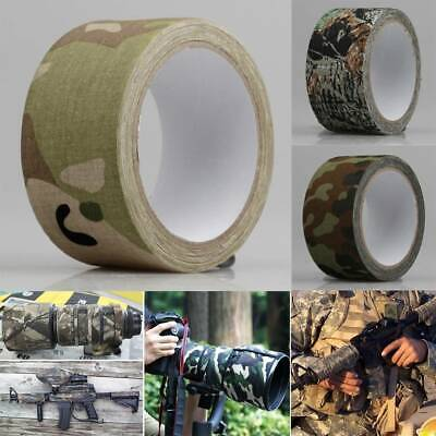 £8.54 • Buy 10m Fabric Camo Tape Wrap Stealth Hunting Camouflage Gun Sniper Wrap Woodland UK