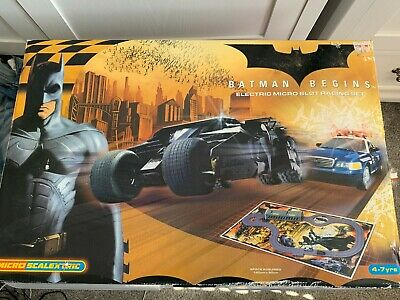 Micro Scalextric Set Batman Begins Batmobile And Police Car PWO Excellent  • 7.99£