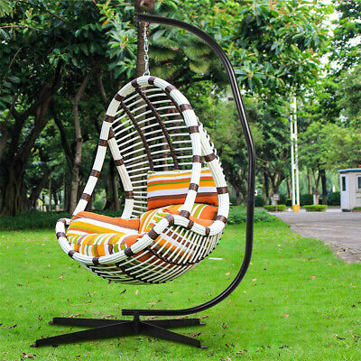Premium Large Hanging Egg Chair Hammock Stand Relaxing Support Hook 300lbs Stand • 99.93£