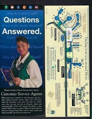 $4.99 • Buy Detroit Metro Airport Customer Service Agents & Map Questions Answered 7/2000