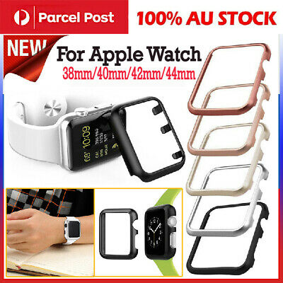 AU4.89 • Buy Aluminum Watch Case For Apple Watch Band 40mm 44mm 38mm/42mm Iwatch
