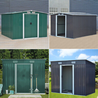 Metal Garden Shed 4 X 6, 4 X 8, 6 X 8, 10 X 8 Storage With Foundation Base Sheds • 219.95£