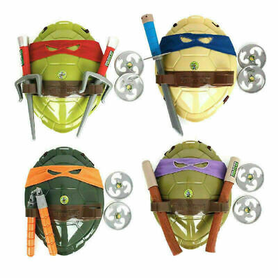 Teenage Mutant Ninja Turtles Halloween Act Turtles Costume Shell/Weapon Kids Toy • 11.99£