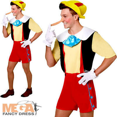 $39.87 • Buy Pinocchio Mens Fancy Dress Disney Fairytale Book Day Week Adults Costume Outfit