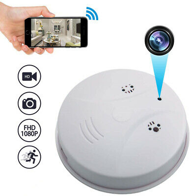 View Details HD Spy CCTV Smoke Detector IP Camera Hidden 1080P Mini Micro Security Cam Home • 39.89£