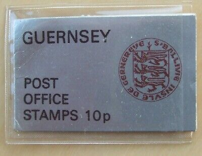 Guernsey 10p Stamp Booklet Still In Its Plastic Wallet • 0.99£