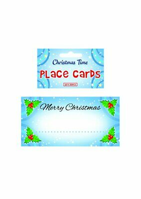 £1.45 • Buy 50 Christmas Name Place Cards Table Setting Decoration Festive Holly Design