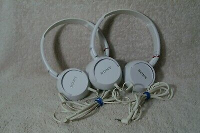 £7.96 • Buy Set Of 2 Sony MDR-ZX100 Headband Headphones - White- In Great Working Condition.