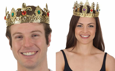 £12.13 • Buy Renaissance Medieval Prince King Queen Costume Metal Filigree Gold Jeweled Crown