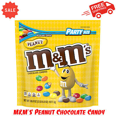 $13.95 • Buy M&M'S Peanut Chocolate Candy, 38-Ounce Party Size Bag, Delicious Treat, Pantry