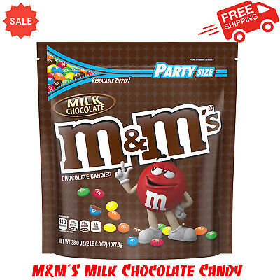 $13.95 • Buy M&M'S Milk Chocolate Candy, 38-Ounce Party Size Bag, Delicious Classic, Pantry