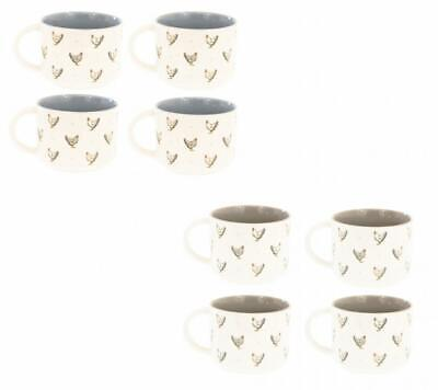 £16.99 • Buy Farmers Kitchen Set Of 4 300ml Ceramic Stacking Stackable Coffee Tea Cup Mug