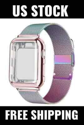 AU18.31 • Buy Milanese Loop Band + Case Strap For Apple Watch Series 5 4 3 2 1 44/42/40/38mm