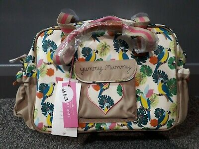 Pink Lining Yummy Mummy 'Parrot Cream' - Changing Bag BRAND NEW W/TAGS  • 39£