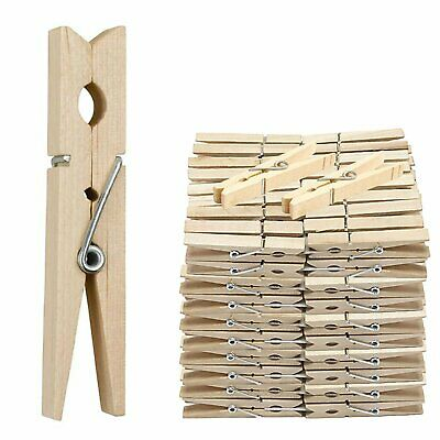 42 Wooden Clothes Pegs Washing Line  Wood Peg Gardens Airer-dry Natural Colour • 3.25£