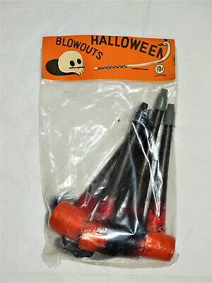 $ CDN32.96 • Buy Vintage 1950s Halloween Blowouts, Paper Rollout Noisemakers Japan Made