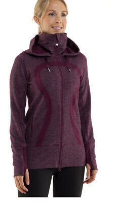 $ CDN38.30 • Buy Lululemon Stride Jacket Mini Check Black Swan Heathered Plum 6 Purple Free Ship