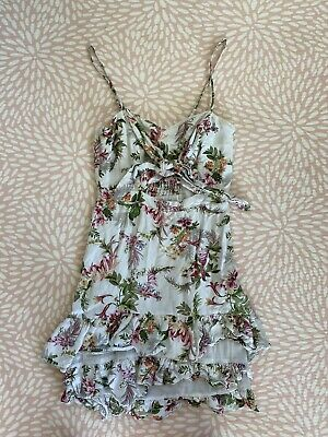 AU20 • Buy Forever New Size 6 Tropical Frill Dress