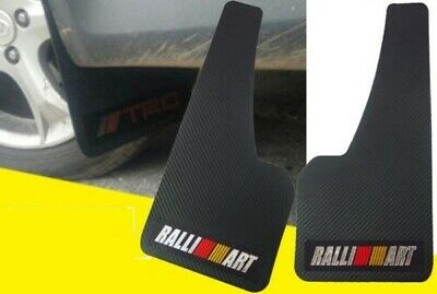 $20.88 • Buy 2Pcs UNIVERSAL RALLIART 3D CARBON FIBER CAR MUDFLAPS MUD GUARD MUDGUARDS FENDER