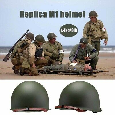 £38.99 • Buy WW2 WWII US M1 Helmet Green Replica Reproductions Military Steel Army CS Outdoor