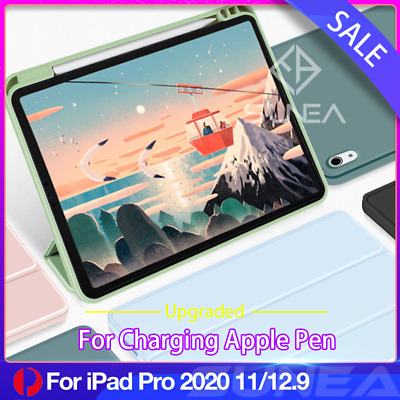 AU28.95 • Buy For IPad Pro 11/12.9 Case Air 4 2020 Shockproof Silicon Smart Cover Pen Holder