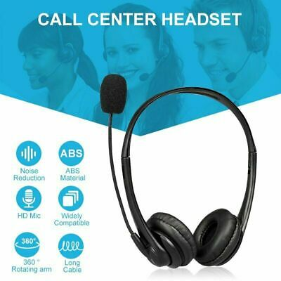 Office Headset USB Noise Cancelling Headphone +Mic Call Centre Office Telephone • 8.92£