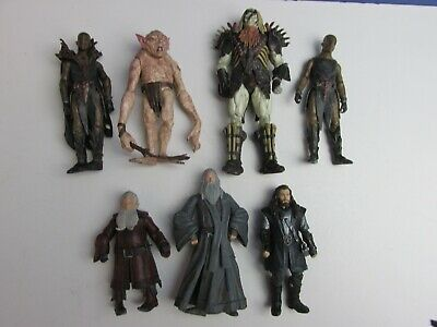 7 LOTR Lord Of The Rings HOBBIT ACTION FIGURE Gandalf Thorin Fimbul LOT BUNDLE • 22.83£