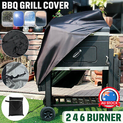 AU17.95 • Buy Waterproof 2 4 6 Burner BBQ Cover Gas Charcoal Barbecue Grill Protector Outdoor