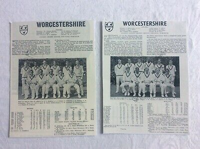 Worcestershire Team Photo 1960s Signed X10 Headley Gifford Booth Holder Cass ++ • 1.99£