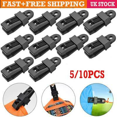 5/10X Reusable Tent Tarp Tarpaulin Clip Clamp Buckle Camping Tool Heavy Duty AA • 0.99£