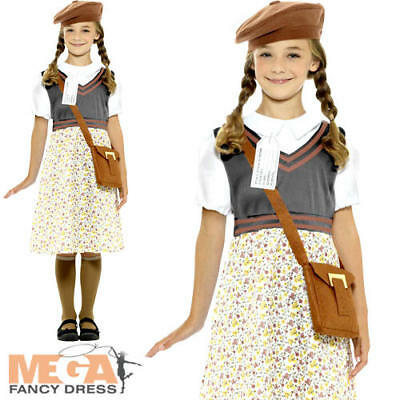 £14.99 • Buy Wartime Girls Fancy Dress History Britain 40s 30s Book Day Childrens Kid Costume