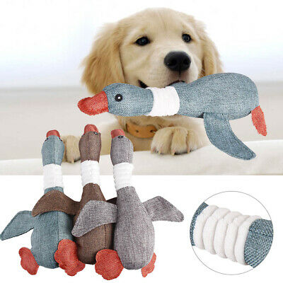 UK Dogs Interactive Chew Toys Indestructible Stuffed Squeaky Toy Sound Squeak` • 4.49£