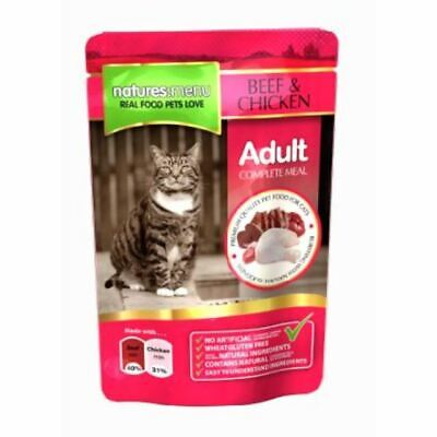 Natures Menu Beef With Chicken Adult Cat Food Pouches - 12 X • 11£