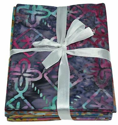 Premium Printed Batik Fat Quarter Bundles 100% Cotton Quilting Craft Fabric 5 FQ • 10.99£