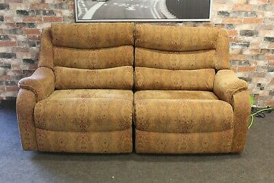 £899 • Buy Parker Knoll Denver Electric Recliner L 2 Seater Sofa In Gold Chenille Fabric